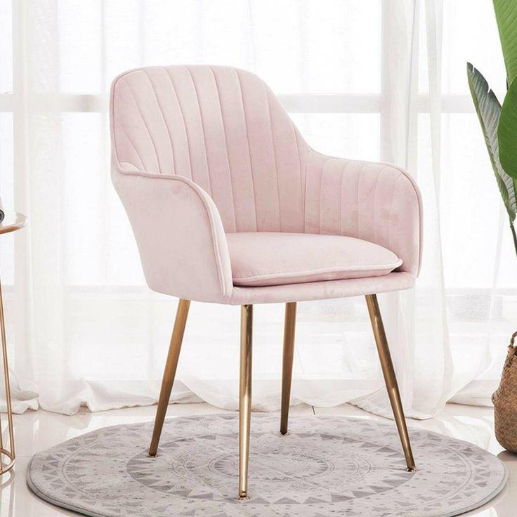 Park Art|My WordPress Blog_Pink Desk Chair With Gold Legs