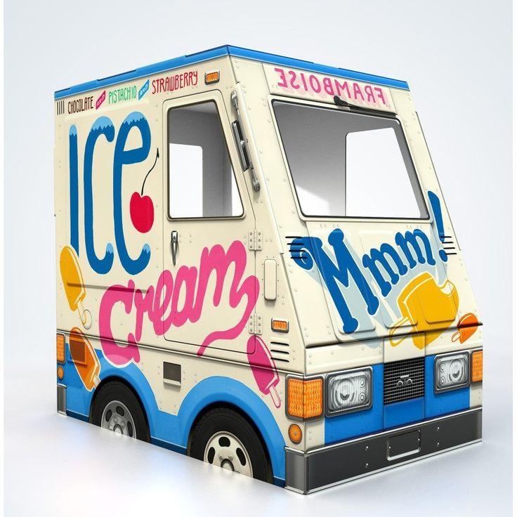 Park Art|My WordPress Blog_Cardboard Ice Cream Truck Playhouse