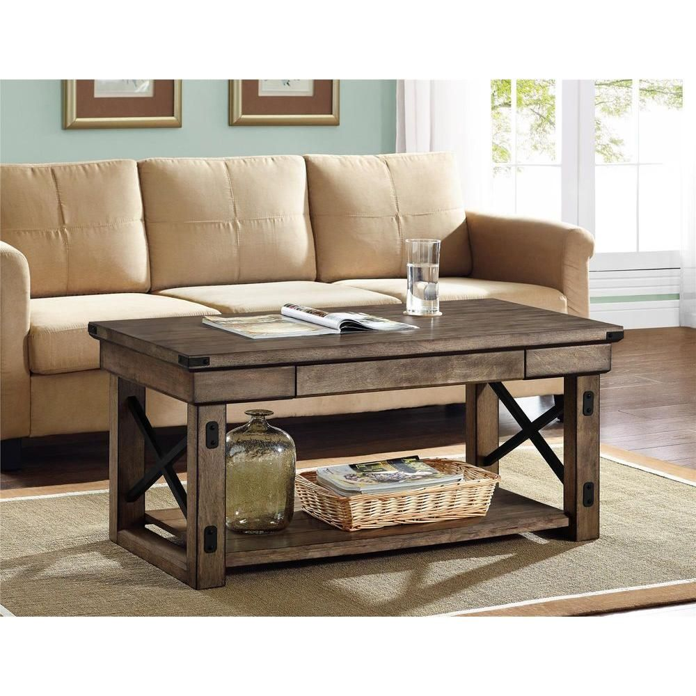 Park Art|My WordPress Blog_Rustic Gray Coffee Table And End Tables