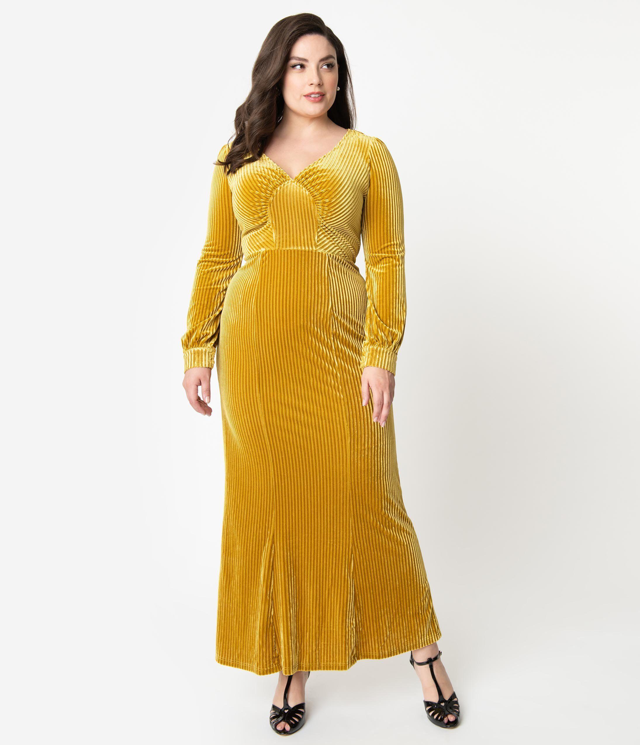 Park Art My WordPress Blog_Gold Velvet Dress Plus Size
