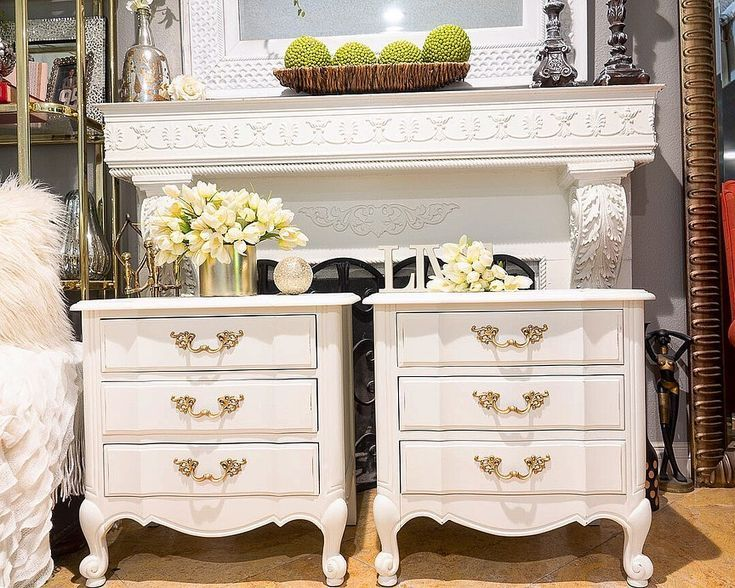 Park Art My WordPress Blog_White Farmhouse Dresser And Nightstand Set