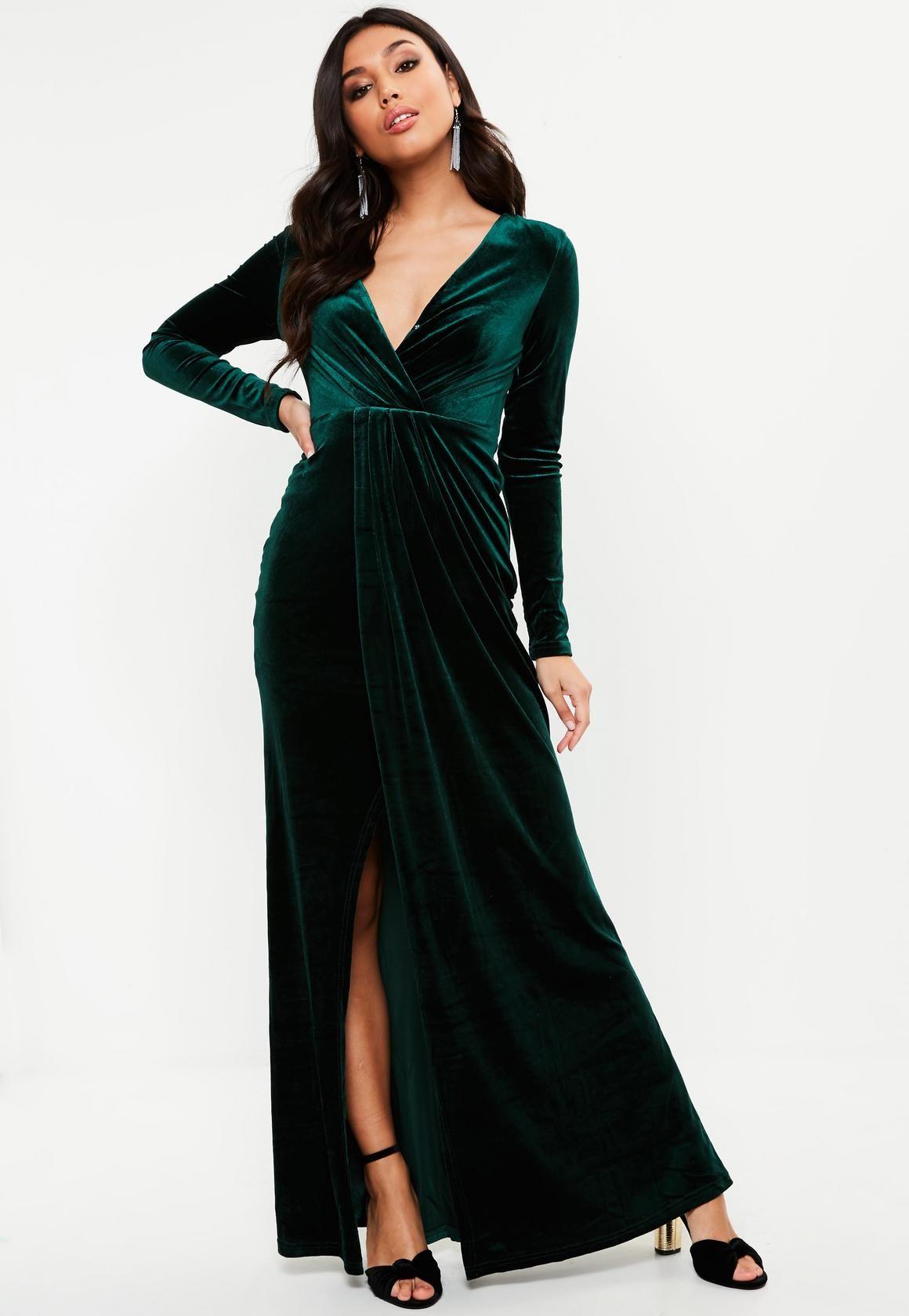 Park Art|My WordPress Blog_Womens Long Sleeve Green Velvet Dress