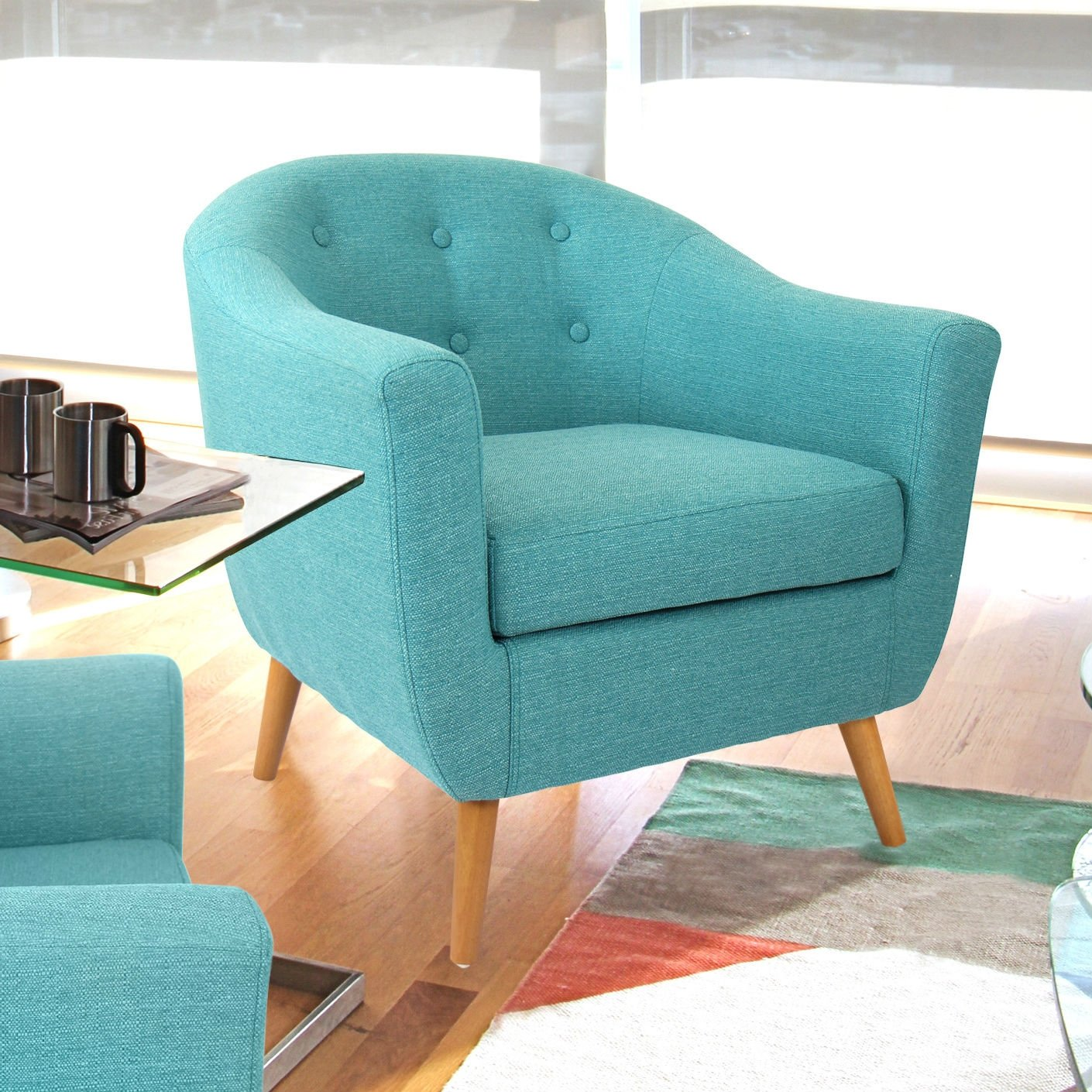 Park Art My WordPress Blog_Turquoise Office Chair With Arms