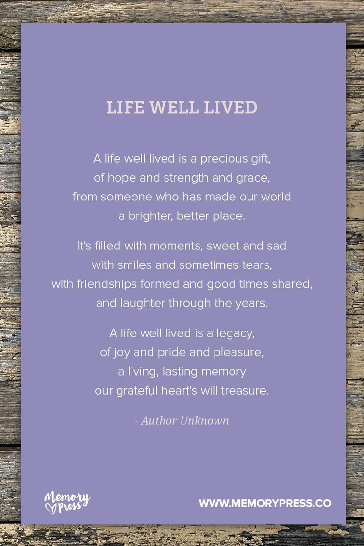 Park Art|My WordPress Blog_A Life Well Lived Funeral Poem