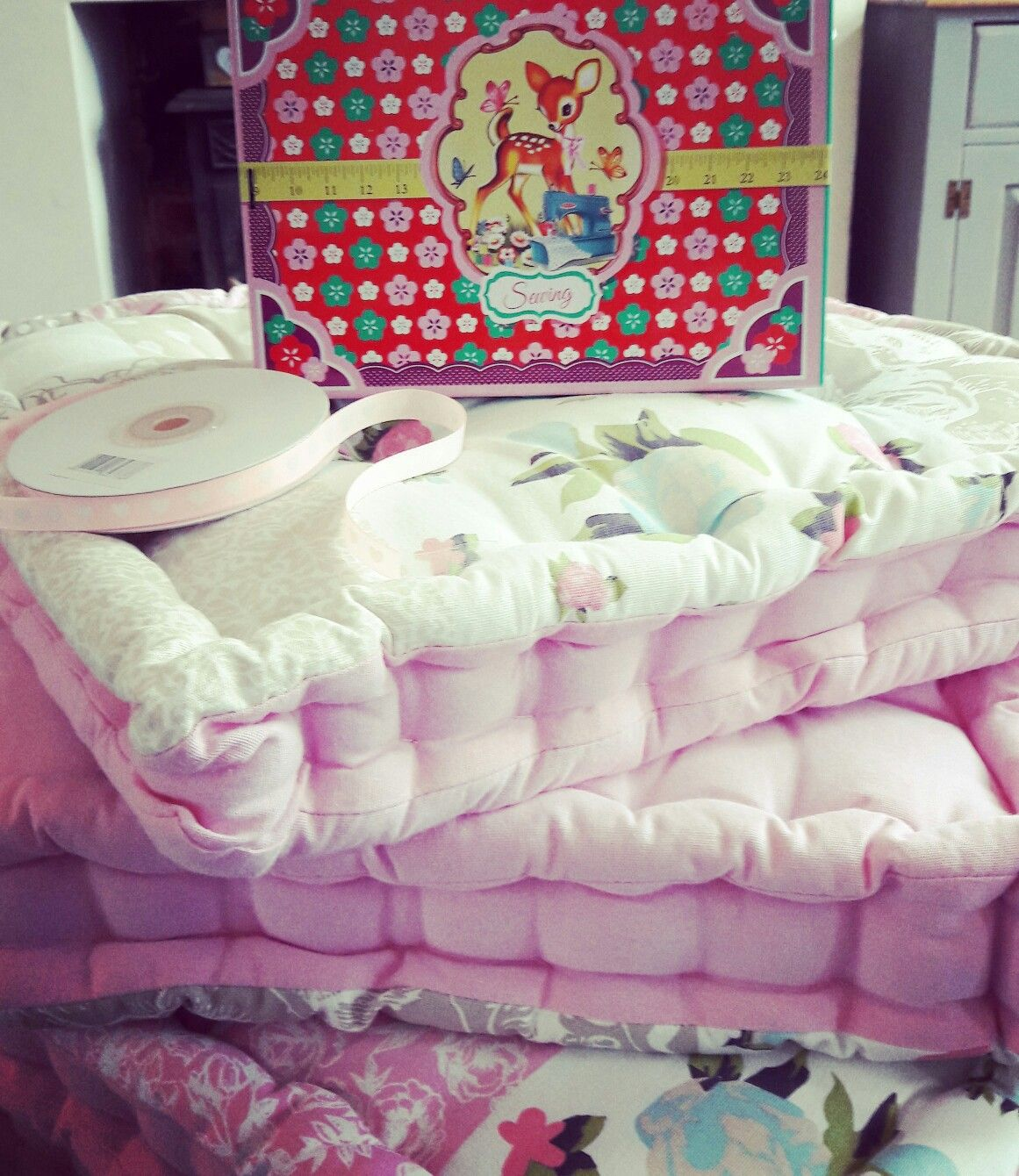 Park Art My WordPress Blog_Pink Chair Cushions With Ties