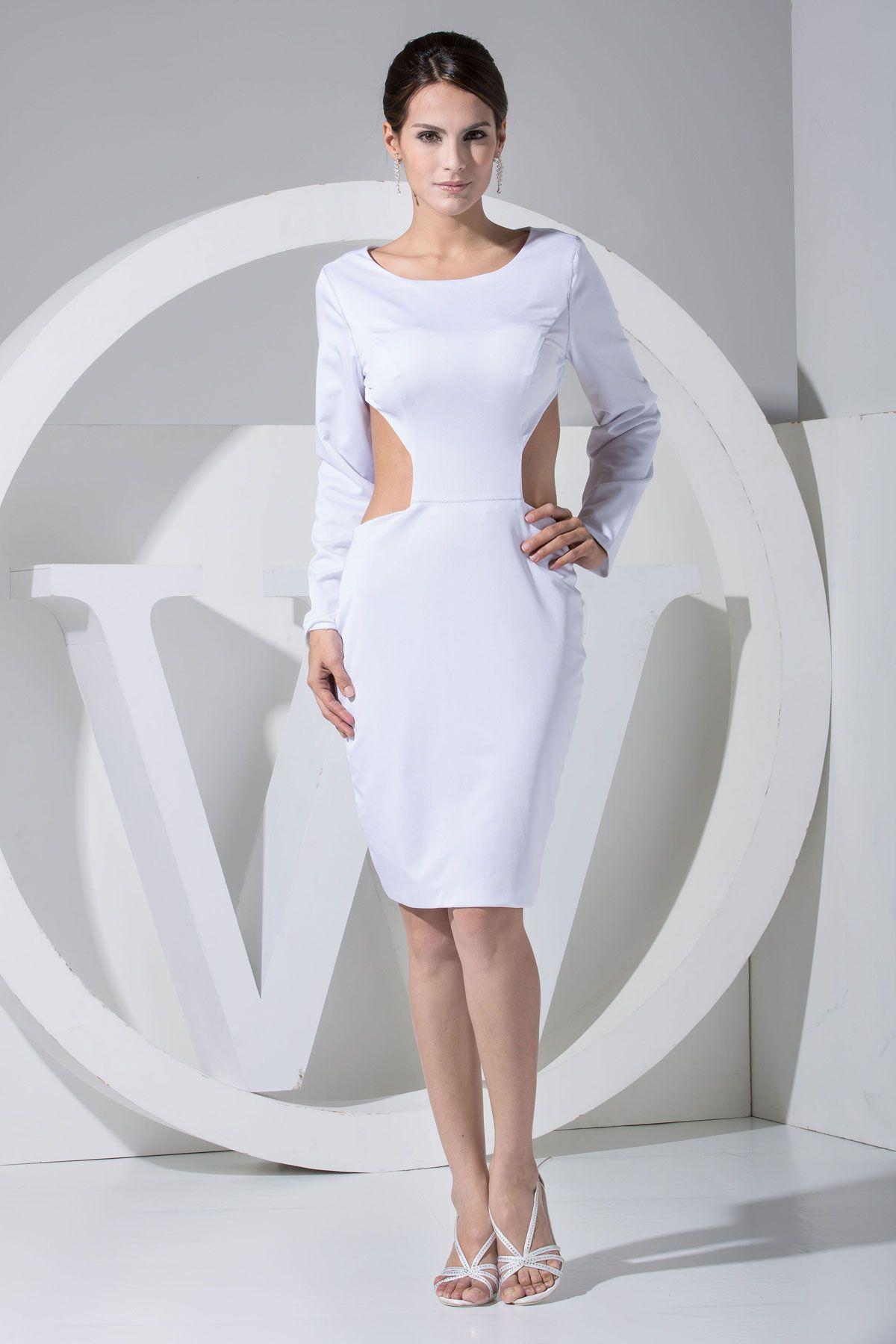 Park Art My WordPress Blog_White Knee Length Dress With Sleeves