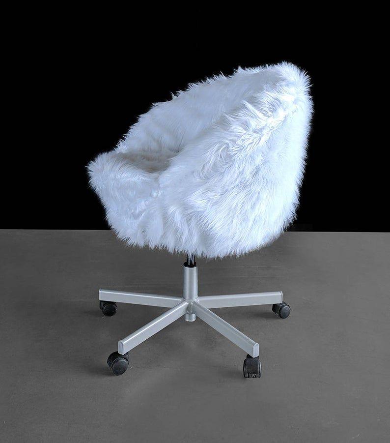 Park Art My WordPress Blog_White Fluffy Desk Chair Ikea