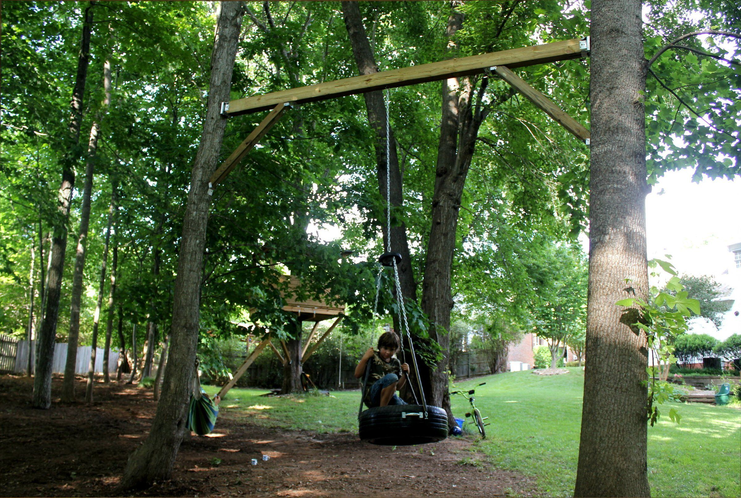 Park Art|My WordPress Blog_How To Mount A Swing Between Two Trees