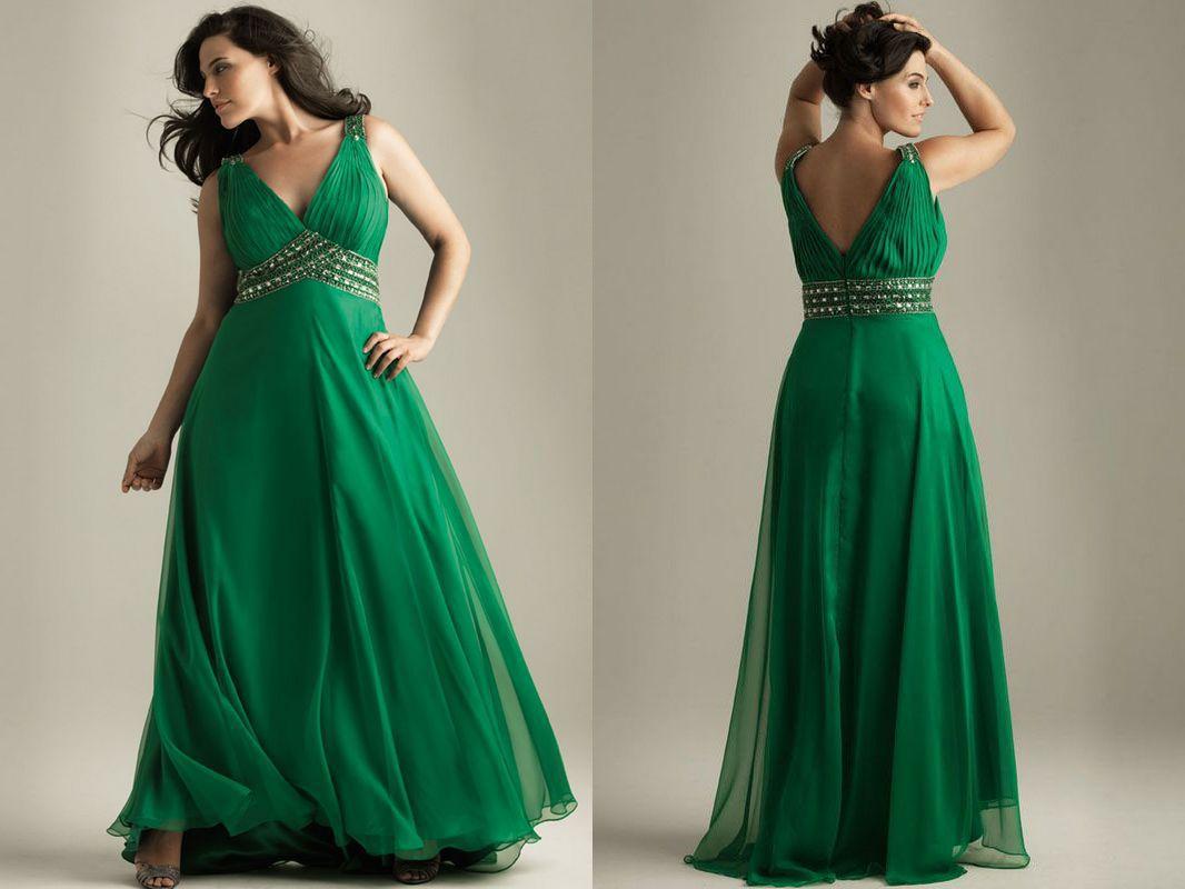 Park Art|My WordPress Blog_Emerald Green Plus Size Dress Formal