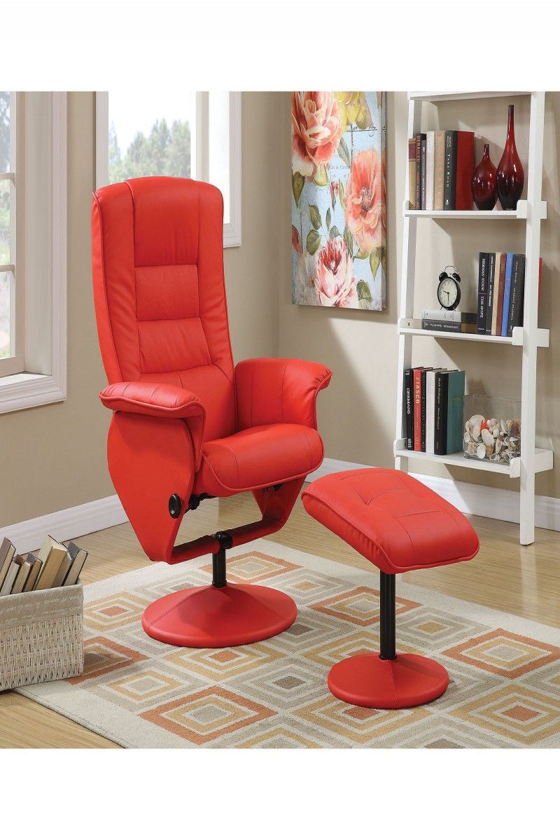Park Art My WordPress Blog_Red Swivel Chair And Footstool