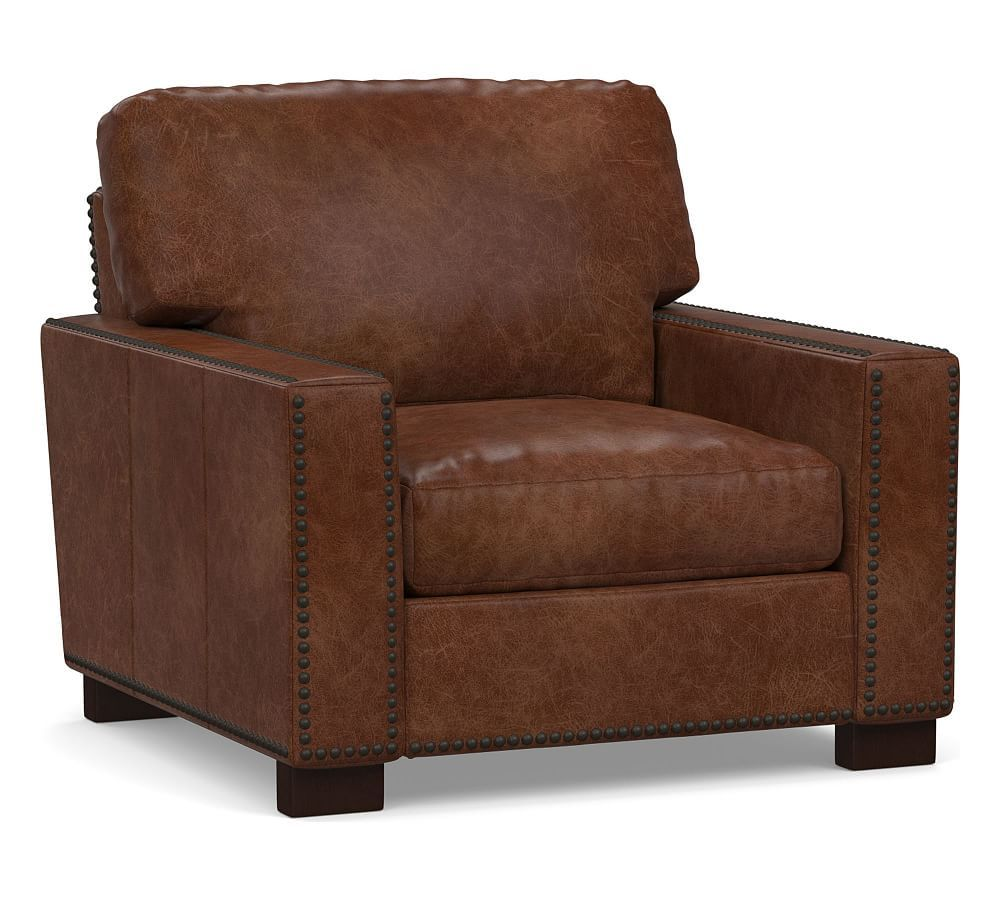 Park Art|My WordPress Blog_Camel Leather Chair With Ottoman
