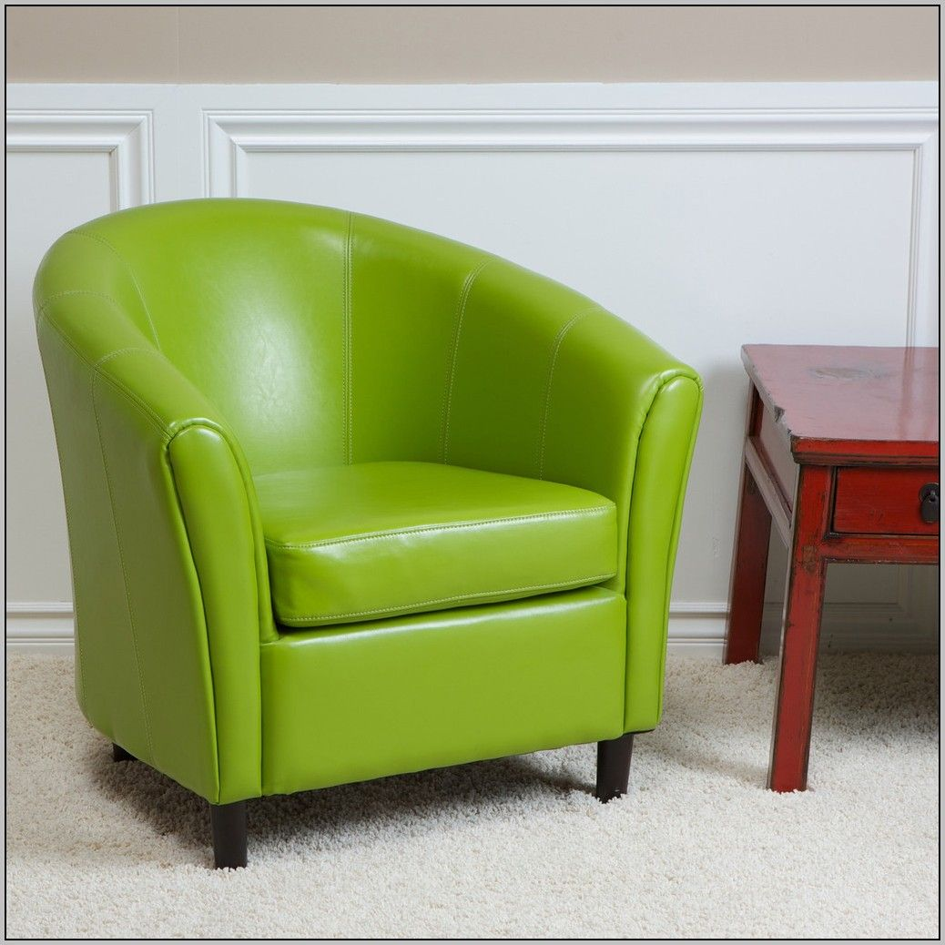 Park Art My WordPress Blog_Lime Green Leather Accent Chair