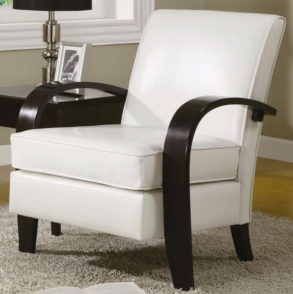 Park Art My WordPress Blog_White Leather And Wood Accent Chair
