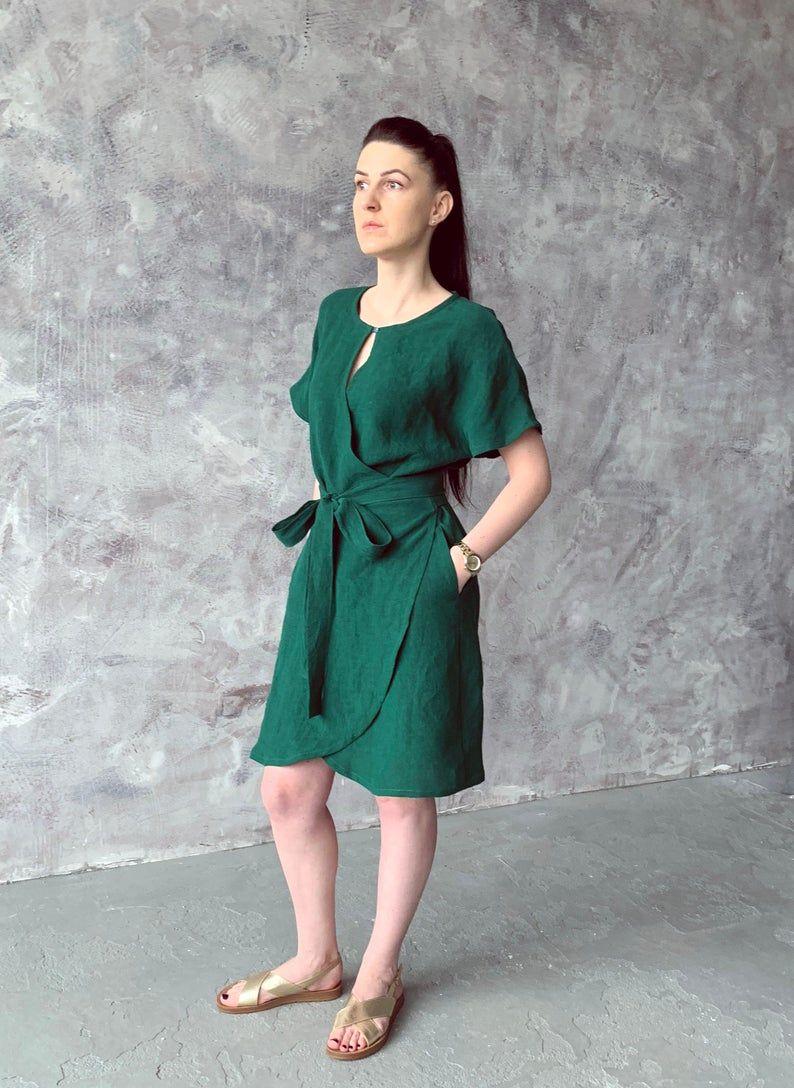 Park Art|My WordPress Blog_Linen Wrap Dress With Pockets