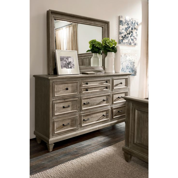 Park Art My WordPress Blog_Gray Dresser With Mirror Set
