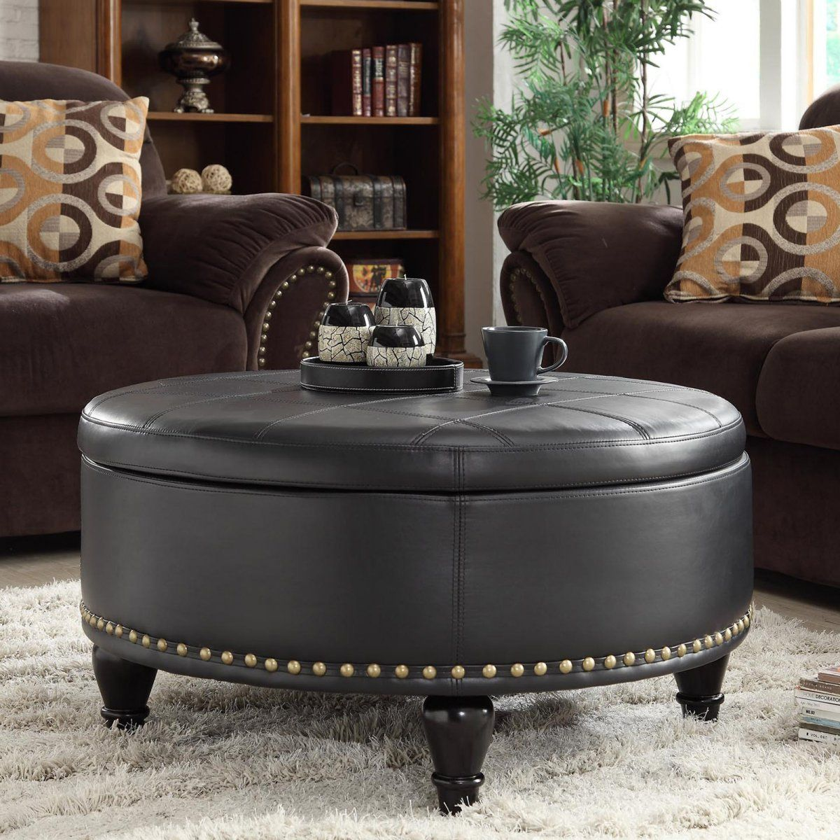 Park Art|My WordPress Blog_Round Leather Coffee Table With Legs