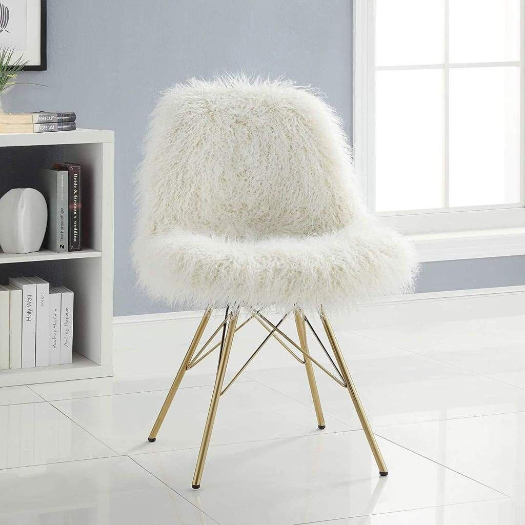 Park Art|My WordPress Blog_White Accent Chair With Gold Legs