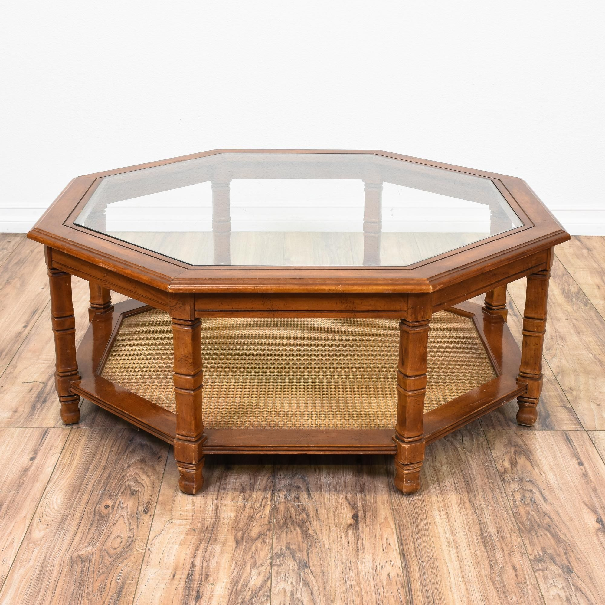 Park Art|My WordPress Blog_Octagon Coffee Table With Glass Top