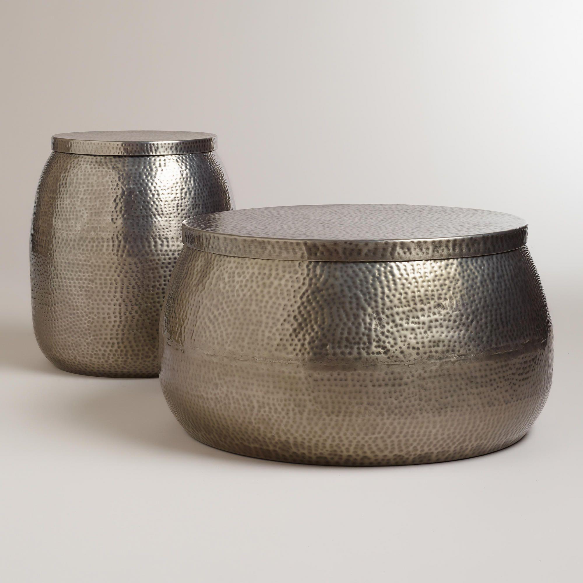 Park Art|My WordPress Blog_Silver Drum Coffee Table With Storage