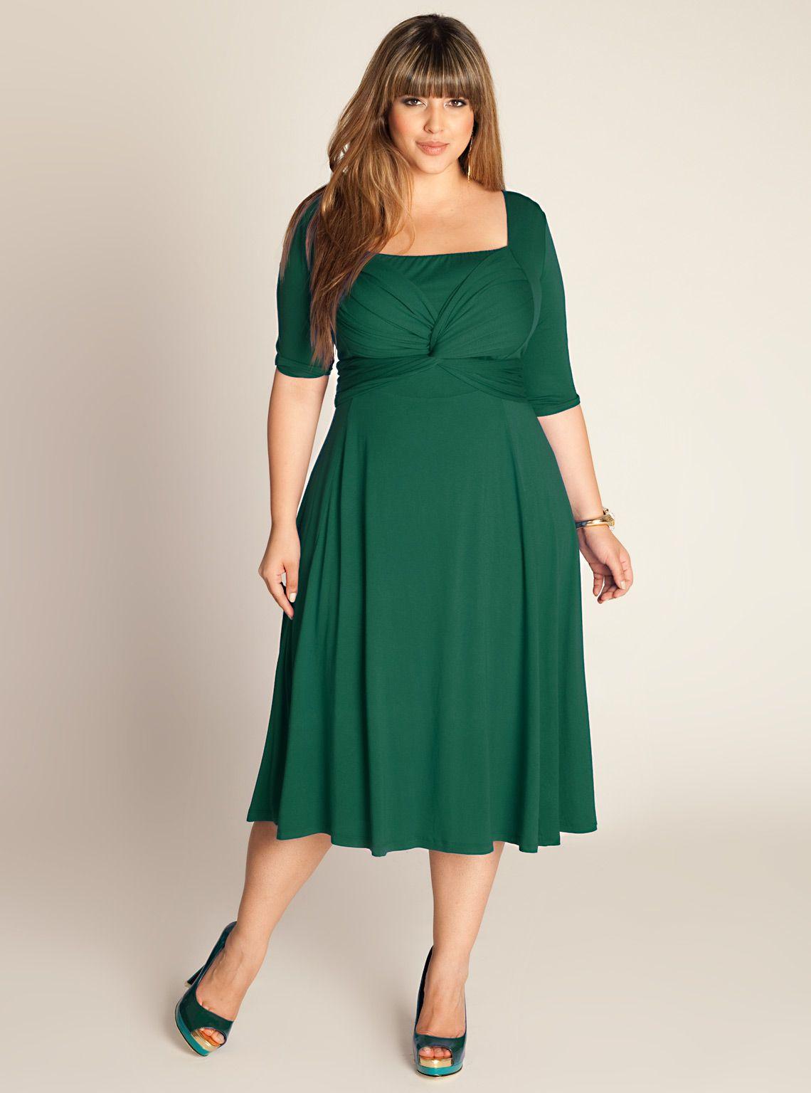 Park Art My WordPress Blog_Green Wrap Dress Plus Size