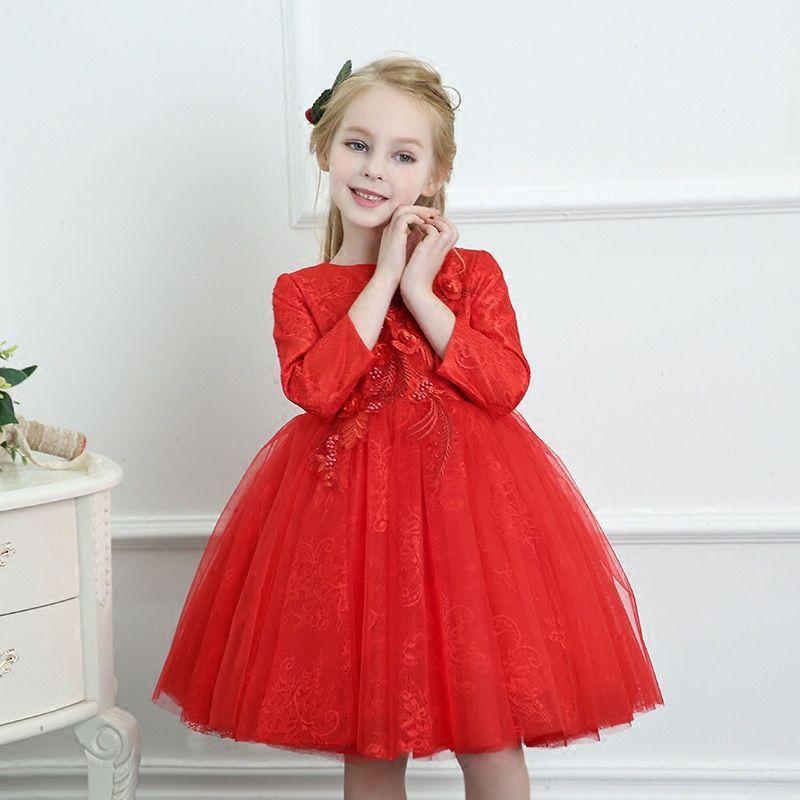 Park Art|My WordPress Blog_Red Flower Girl Dresses With Sleeves
