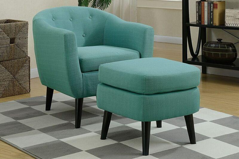 Park Art|My WordPress Blog_Light Blue Chair And Ottoman