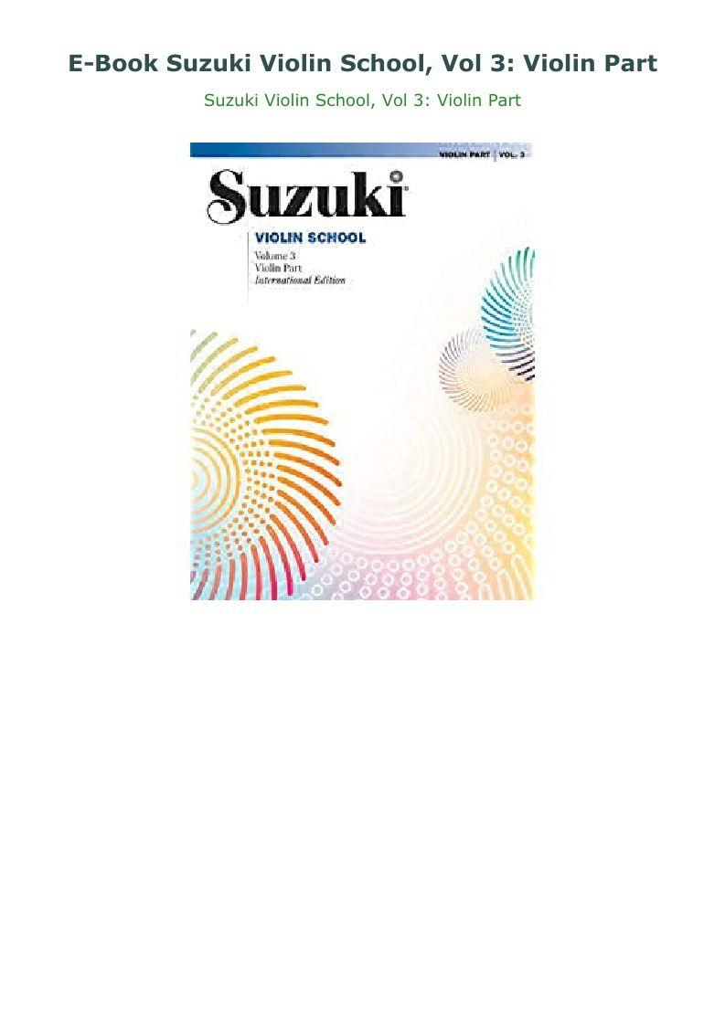 Park Art My WordPress Blog_Suzuki Violin Book 3 Pdf Gratis