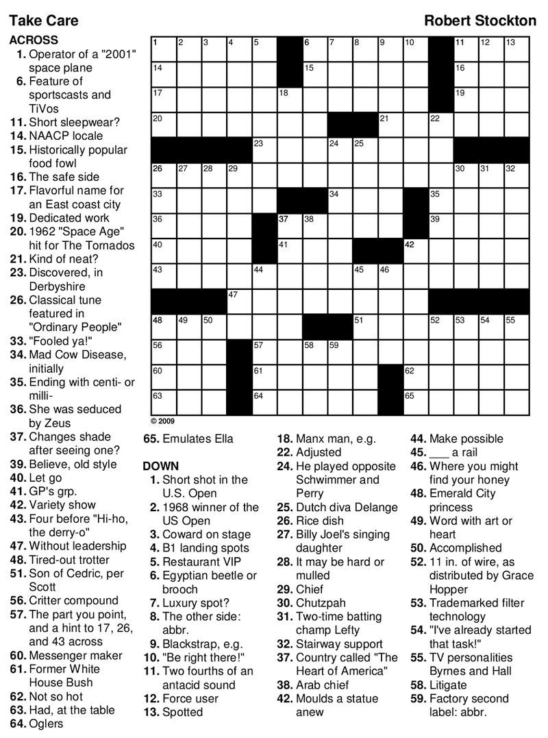 Park Art My WordPress Blog_Daily Themed Crossword A Fun Crossword Game