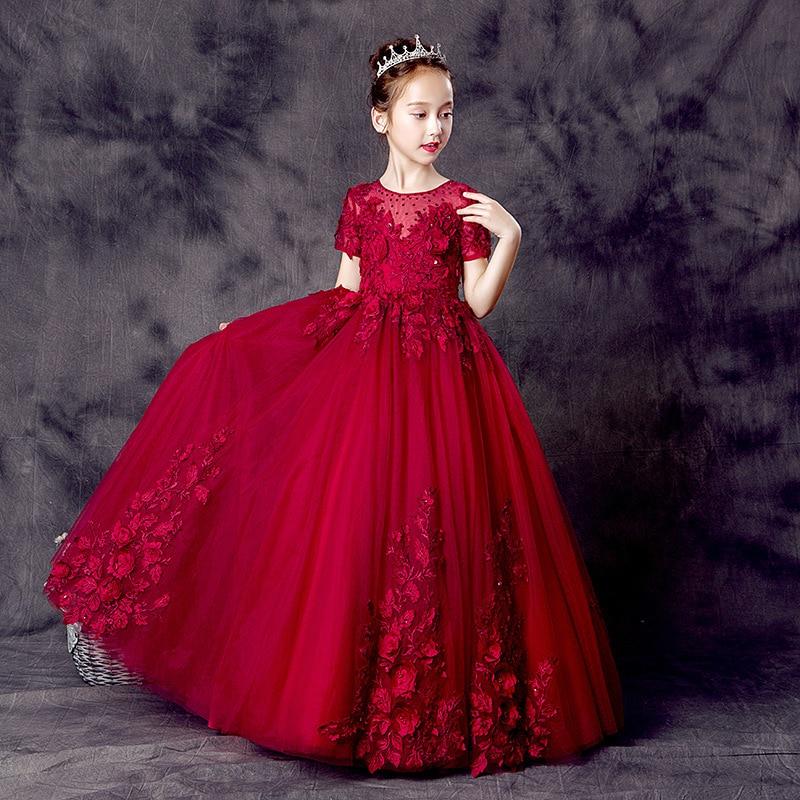 Park Art My WordPress Blog_Red Flower Girl Dresses Long