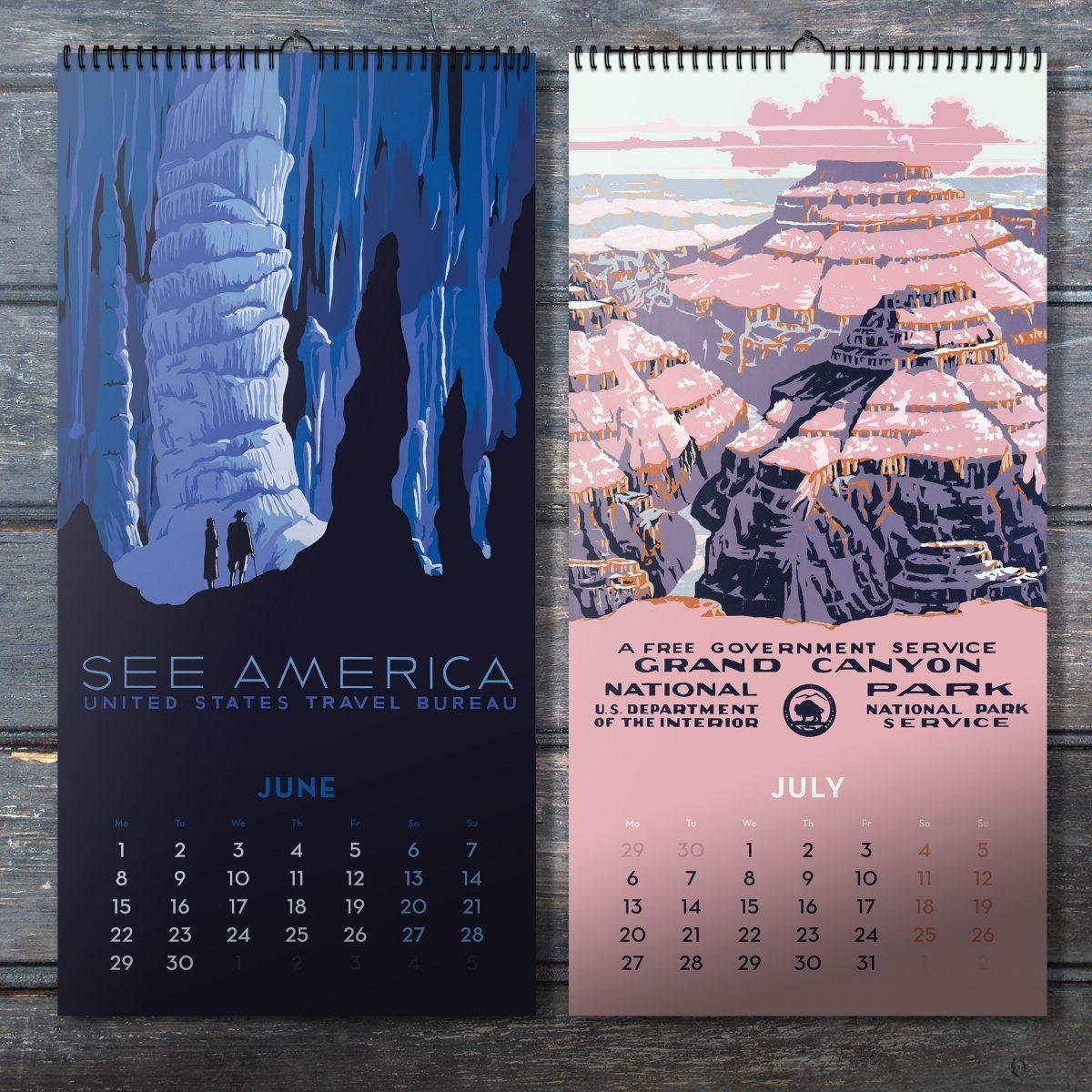 Park Art My WordPress Blog_10+ National Parks Poster Art Wall Calendar  Pictures