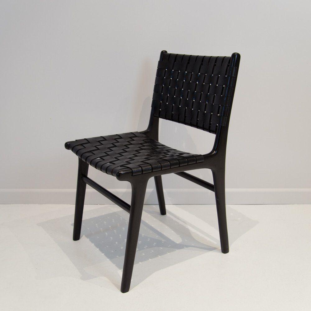 Park Art|My WordPress Blog_Woven Leather Dining Chair Black