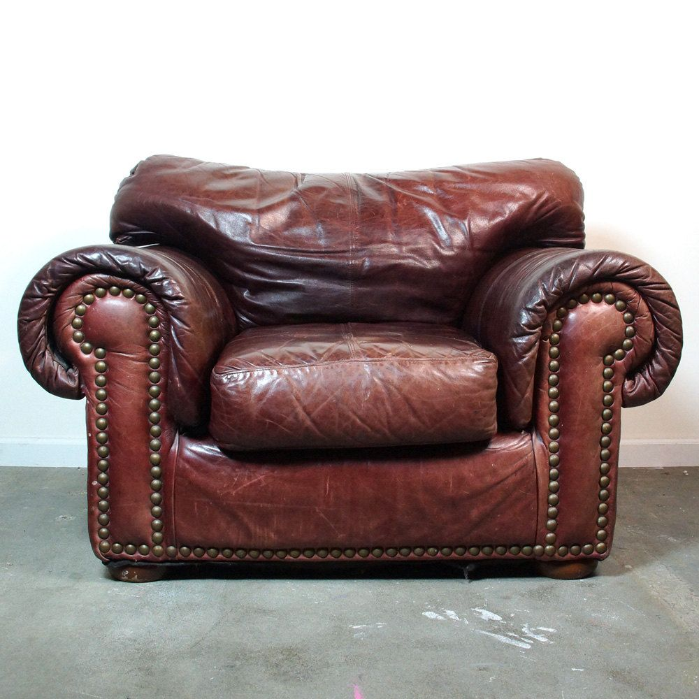 Park Art|My WordPress Blog_Vintage Leather Chair And Footstool