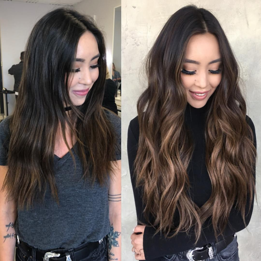 Park Art|My WordPress Blog_Dark Brown Hair Extensions Before And After