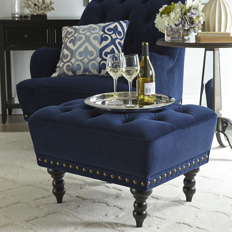 Park Art|My WordPress Blog_Navy Velvet Chair And Ottoman