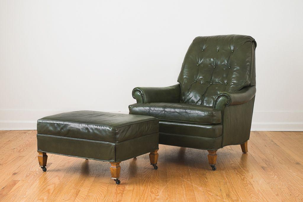 Park Art|My WordPress Blog_Green Leather Chair And Ottoman