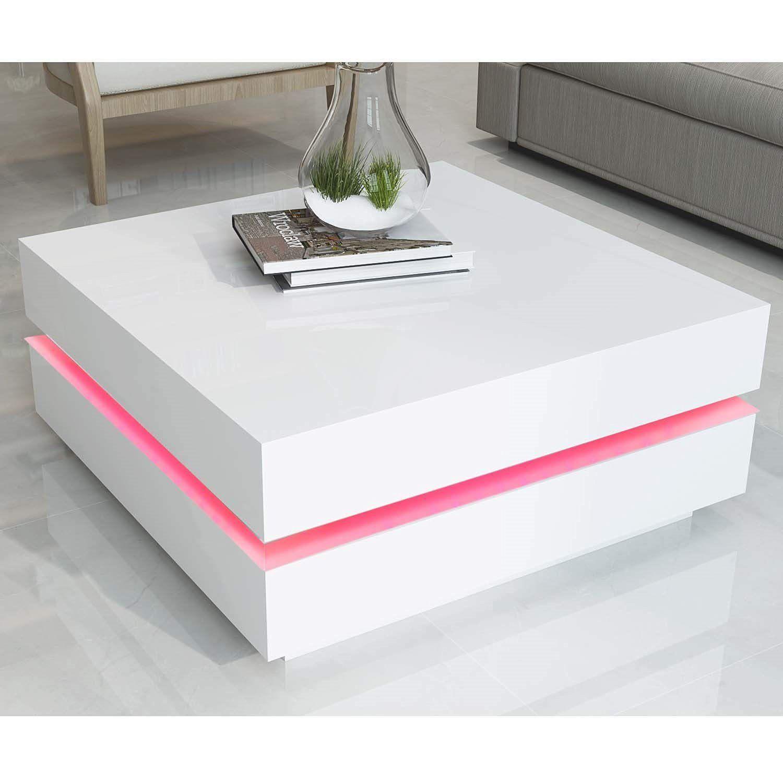 Park Art|My WordPress Blog_White High Gloss Coffee Table With Led Lights