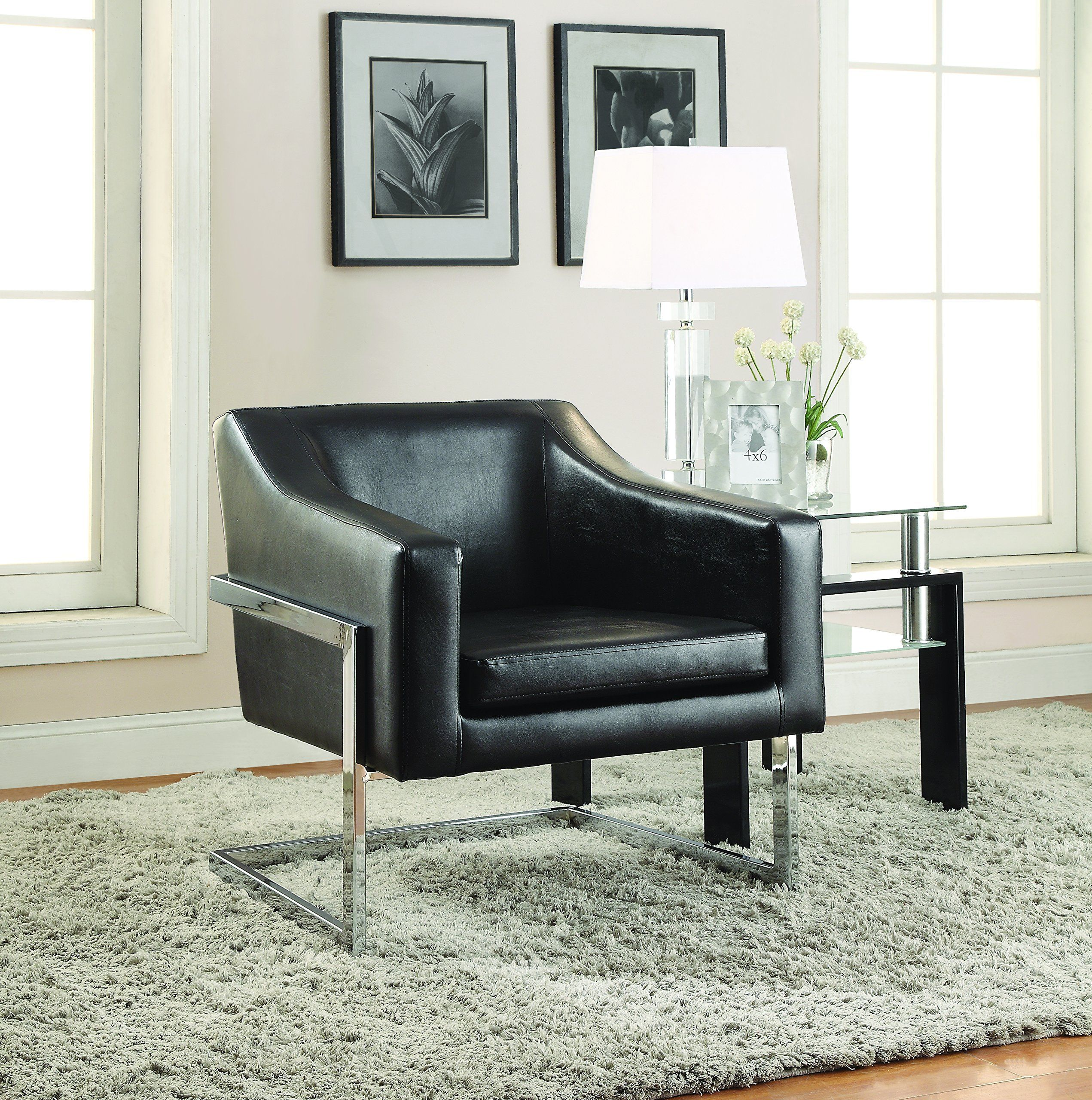 Park Art My WordPress Blog_Black Leather And Wood Accent Chair