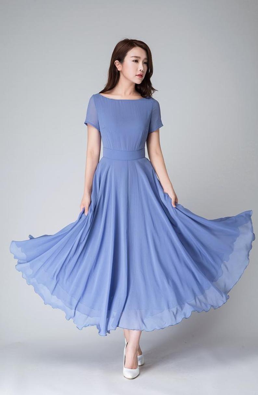 Park Art|My WordPress Blog_Short Chiffon Dress With Long Sleeves