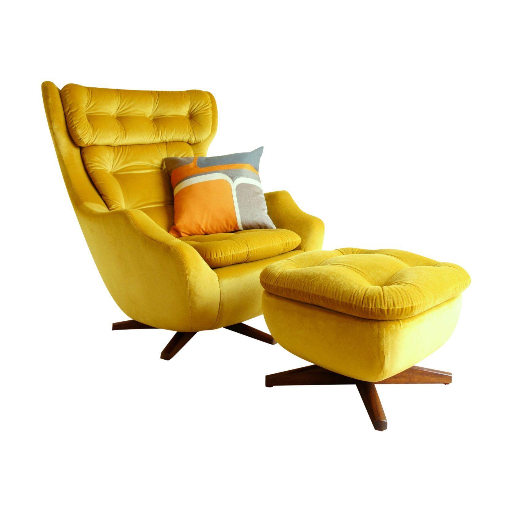 Park Art|My WordPress Blog_Yellow Velvet Chair And Footstool