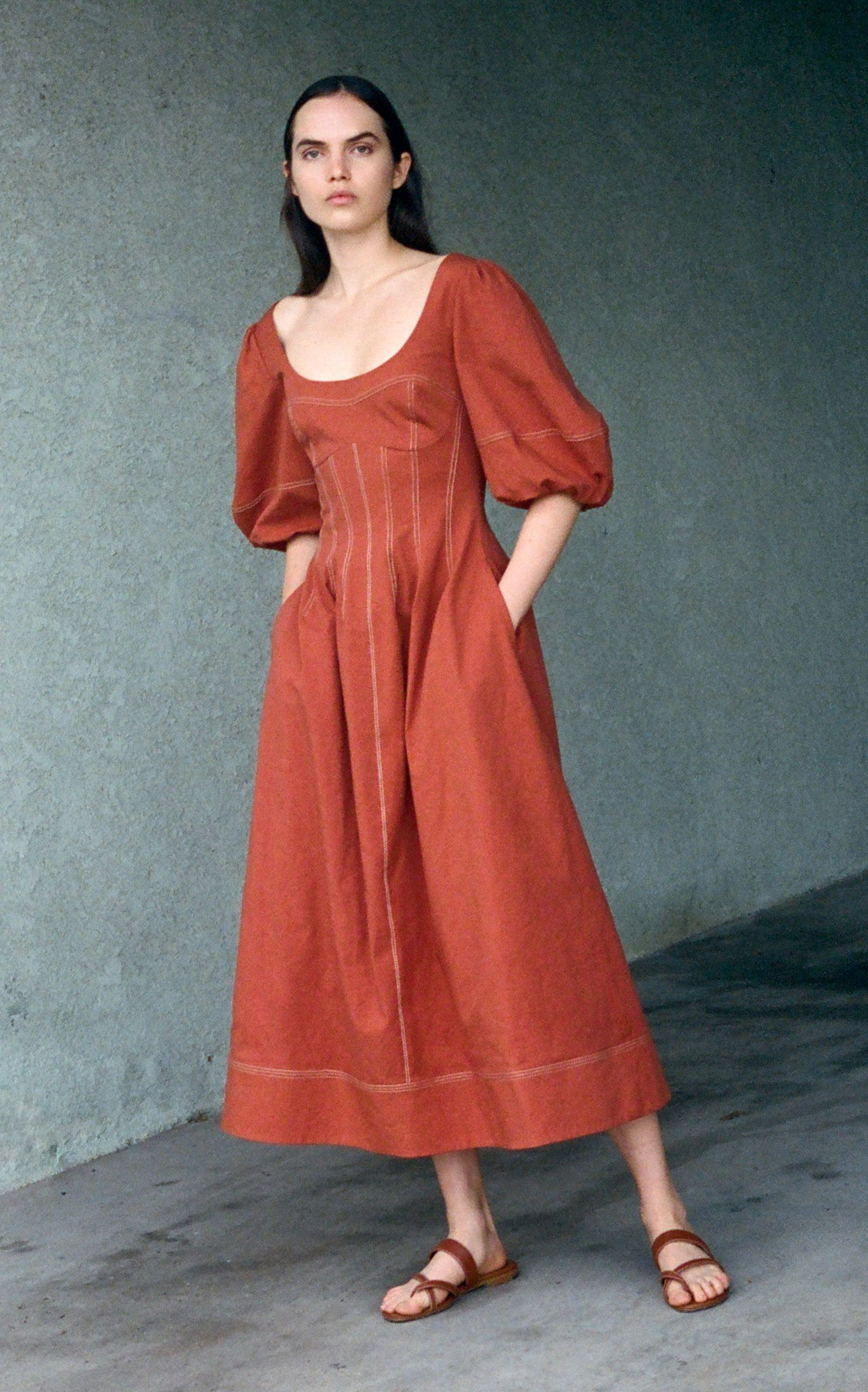 Park Art|My WordPress Blog_Puff Sleeve Midi Dress Formal