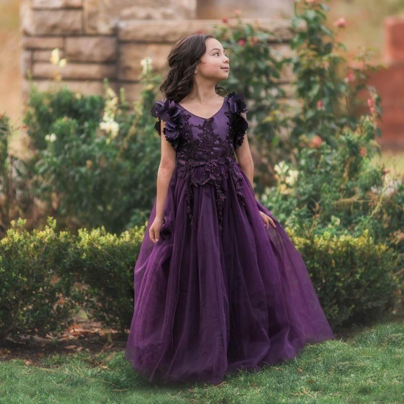 Park Art|My WordPress Blog_Purple Flower Girl Dresses Sleeves