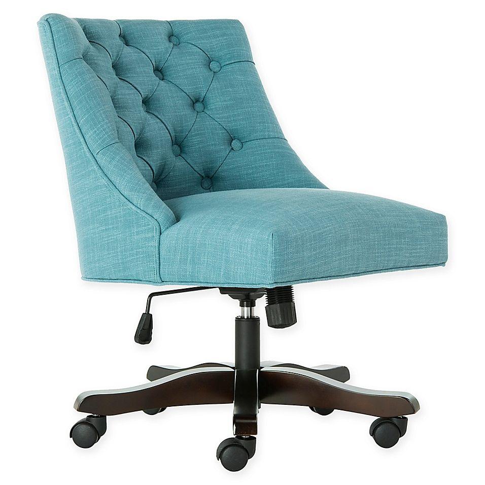 Park Art|My WordPress Blog_Light Blue Velvet Office Chair