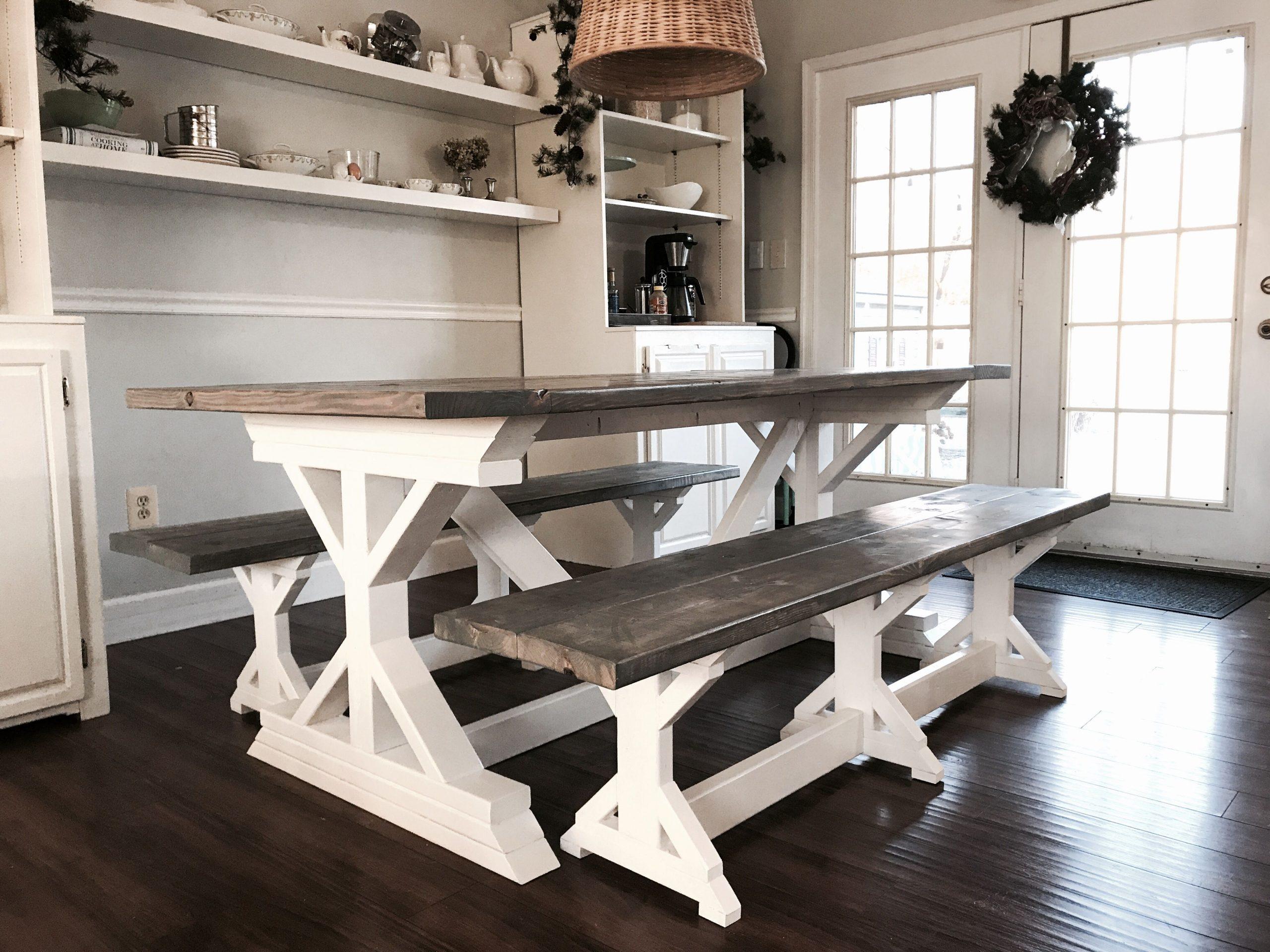 Park Art|My WordPress Blog_Gray Farmhouse Table With Bench