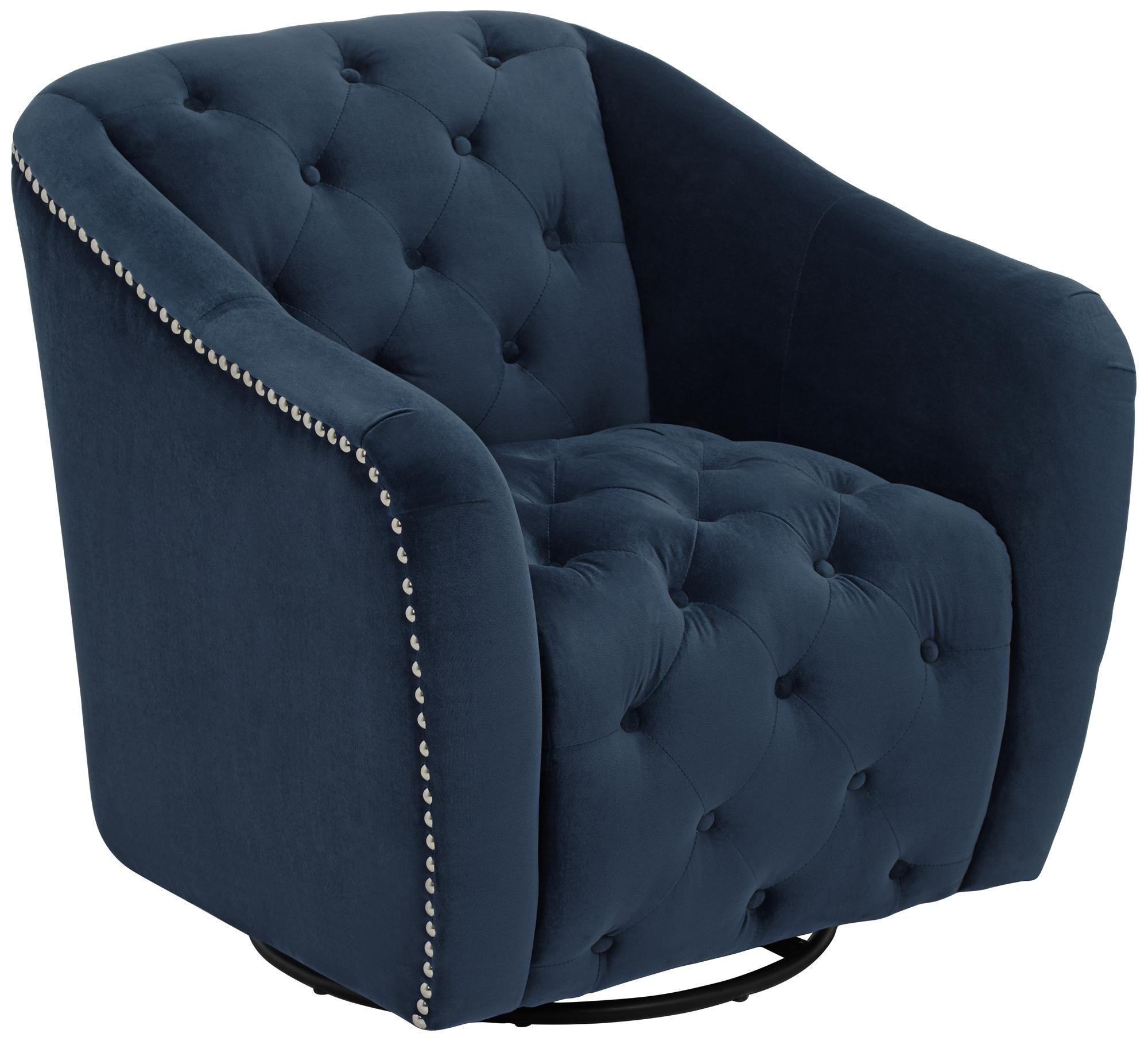 Park Art|My WordPress Blog_Navy Blue Swivel Accent Chair