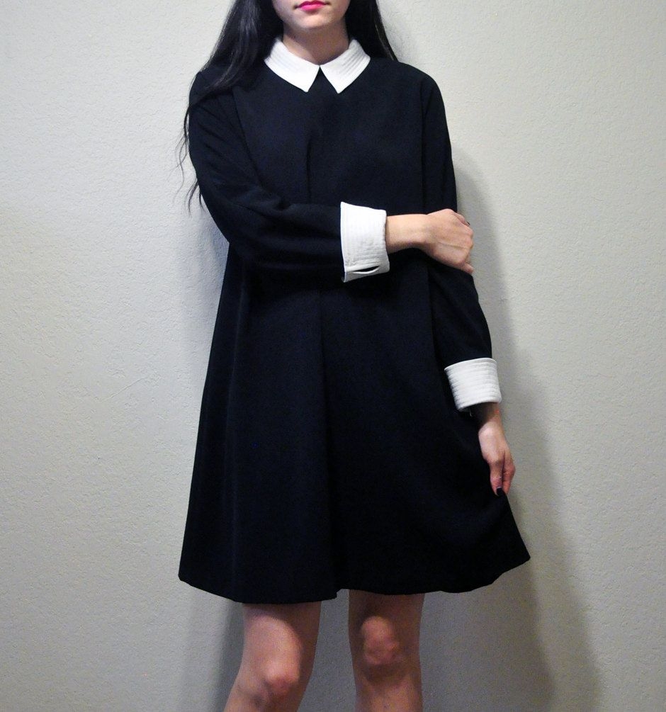 Park Art|My WordPress Blog_Black Dress With White Collar And White Cuffs