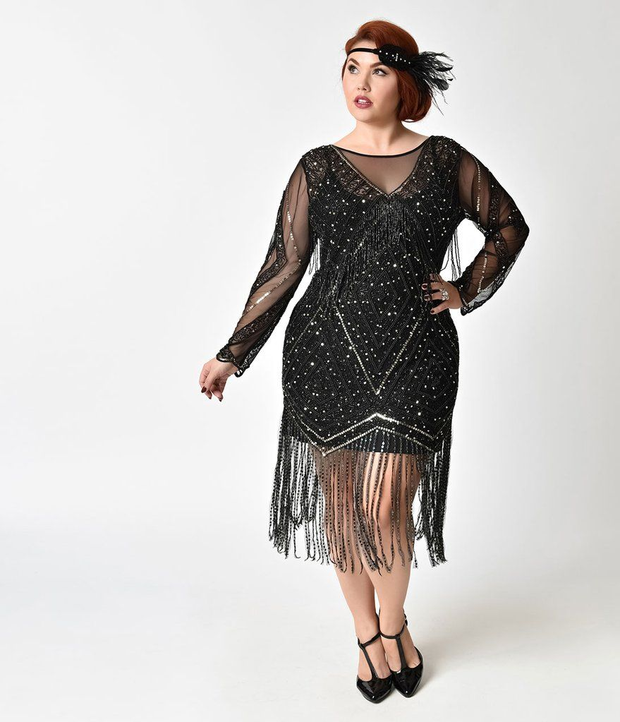 Park Art|My WordPress Blog_Sheer Long Sleeve Dress Plus Size