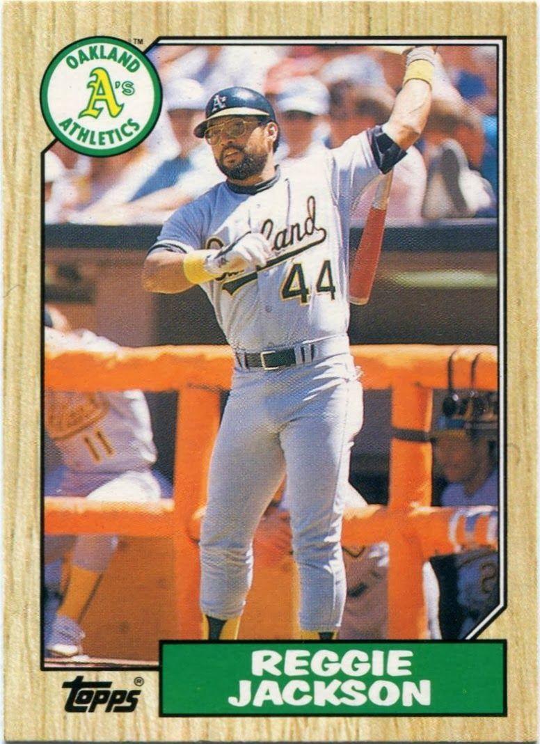 Park Art|My WordPress Blog_Reggie Jackson Baseball Card 1987