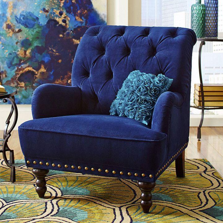 Park Art|My WordPress Blog_Royal Blue Accent Chair With Ottoman
