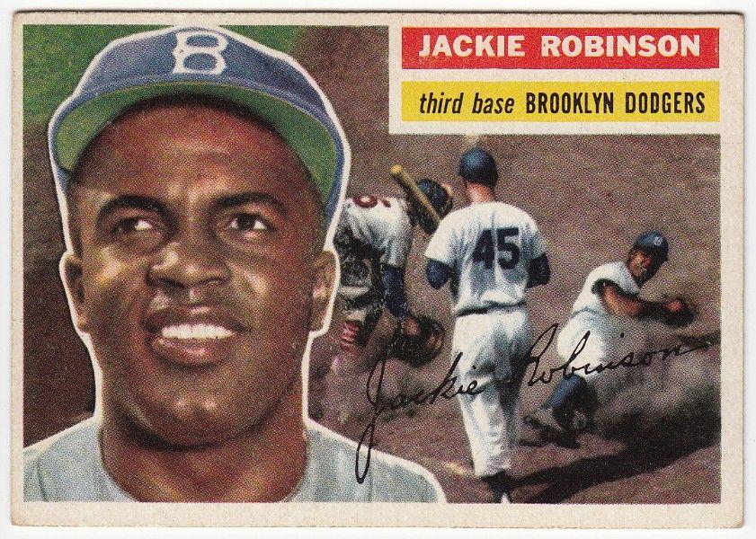 Park Art|My WordPress Blog_Jackie Robinson Baseball Card 1956