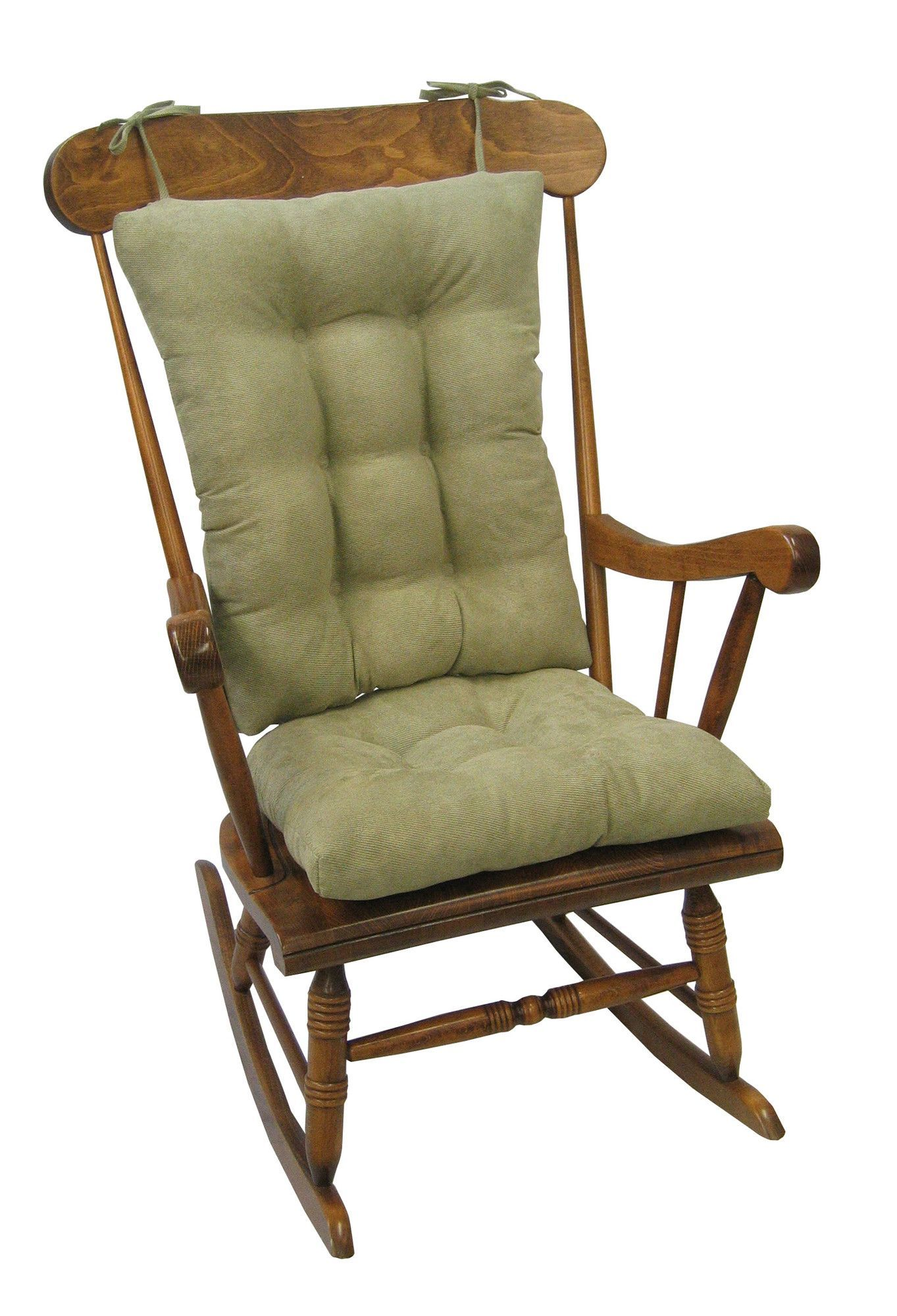 Park Art|My WordPress Blog_Wooden Rocking Chair With Cushions